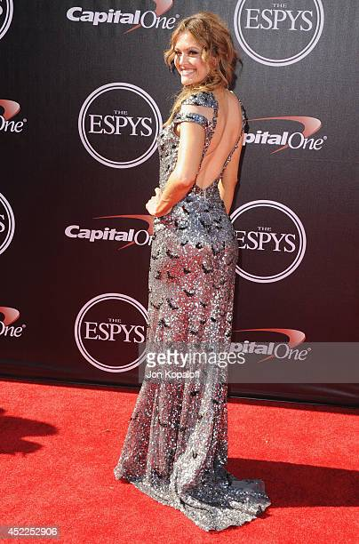 Amy Purdy arrives at the 2014 ESPYS at Nokia Theatre LA Live on July 16 2014 in Los Angeles California