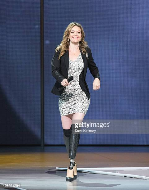 Amy Purdy atends the Oprah's The Life You Want Weekend Day 2 at Prudential Center on September 27 2014 in Newark New Jersey