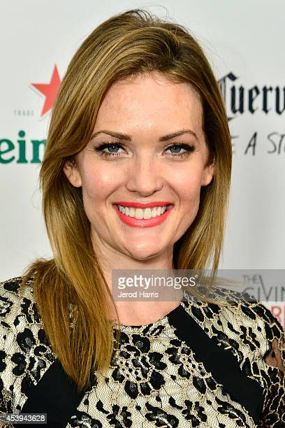 Amy Purdy attends OK TV Awards Party at Sofitel Hotel on August 21 2014 in Los Angeles California