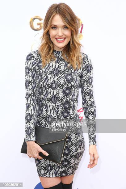 Amy Purdy attends the 6th annual Gold Meets Golden party hosted by Nicole Kidman and Nadia Comaneci at The House on Sunset on January 05 2019 in...