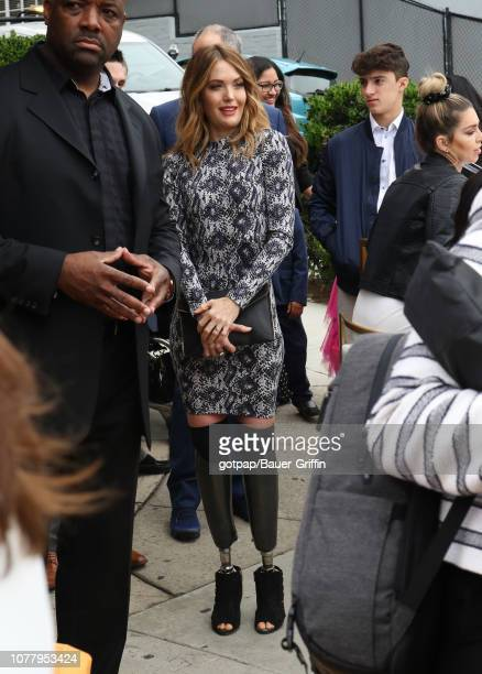 Amy Purdy is seen on January 05 2019 in Los Angeles California