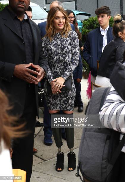 Amy Purdy is seen on January 5 2019 in Los Angeles CA