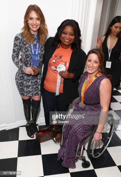 Amy Purdy Octavia Spencer and Tatyana McFadden attend The 6th Annual 'Gold Meets Golden' Brunch hosted by Nicole Kidman and Nadia Comaneci and...