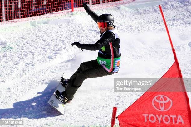 Amy Purdy of the United States competes in the Women's Adaptive Snowboard Final Presented by Toyota during Day 1 of the Dew Tour on December 13 2018...