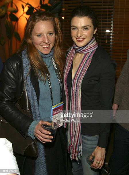 Amy Redford and actress/producer Rachel Weisz during 2003 Sundance Film Festival The Shape of Things Party at Lakota in Park City Utah United States