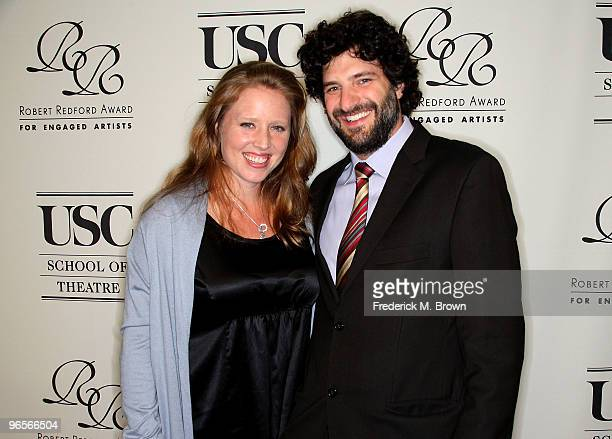 Amy Redford and her husband Mark Mann attend the University of Southern California School of Theatre gala fundraiser honoring actor Robert Redford...