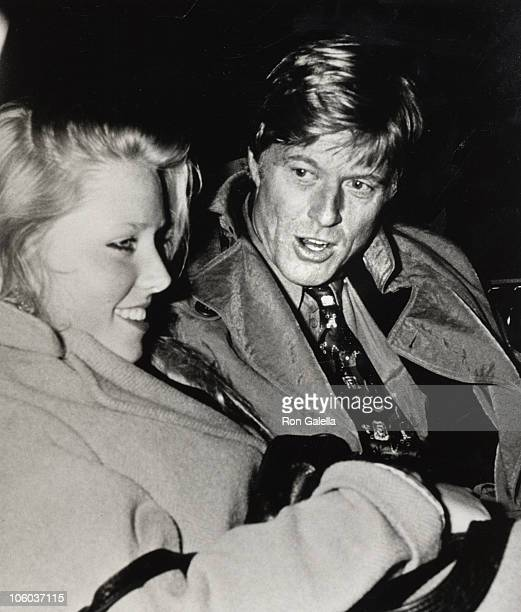 Amy Redford and Robert Redford during Twyla Tharp Dance Opening February 3 1987 at Brooklyn Academy of Music in New York City New York United States
