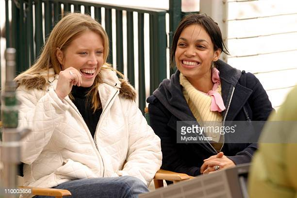 Amy Redford and Rosario Dawson during 2005 Park City Seen Around Town Day 7 at Park City in Park City Utah United States
