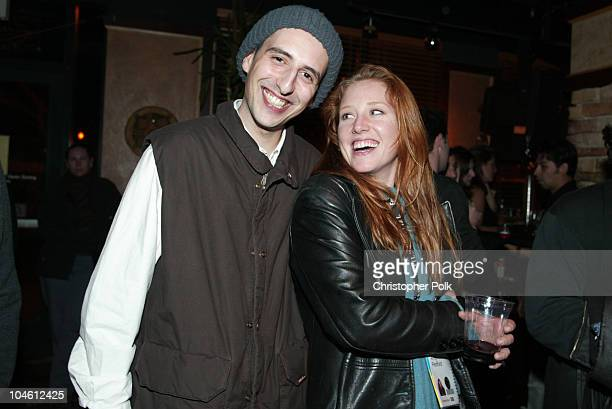 Amy Redford and Sam Neave during Bombay Sapphire Party at Lacoda in Sundance UT United States
