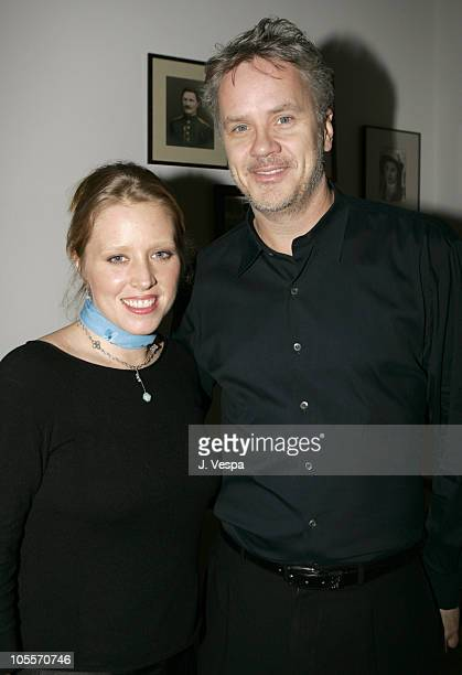 Amy Redford and Tim Robbins during The Playground Project Benefit Dinner at Private Residence in New York City New York United States