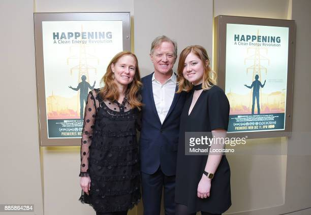 Amy Redford Director James Redford and Lena Redford attend the HBO Documentary Films NY Premiere of HAPPENING A CLEAN ENERGY REVOLUTION4 2017 in New...