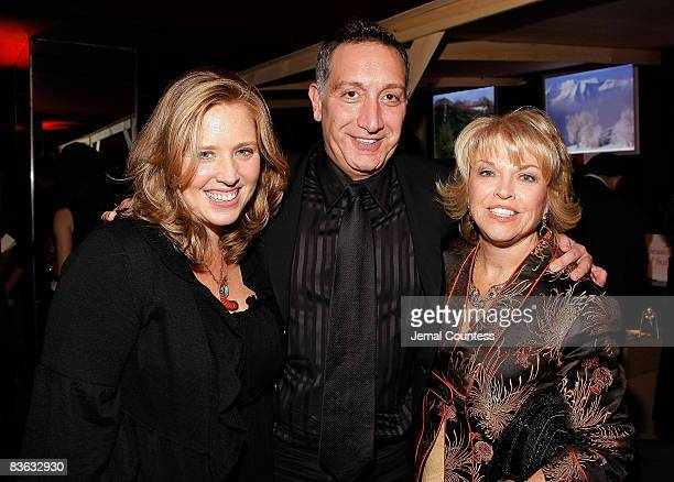 Amy Redford director Moises Kaufman and Sundance Institute Trustee Pat Mitchell attend the 2008 Sundance Gala cocktail party at Roseland Ballroom on...