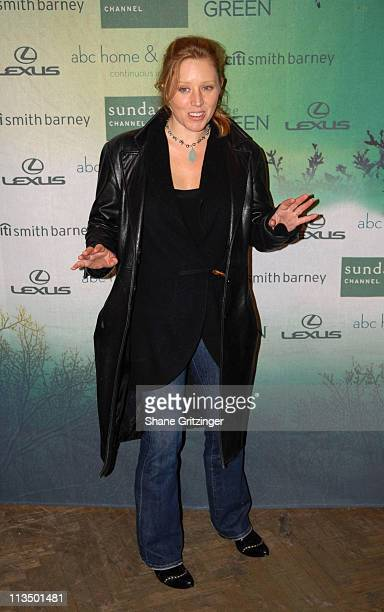 Amy Redford during Sundance Channel's The Green Launch Party at ABC Home in New York City New York United States