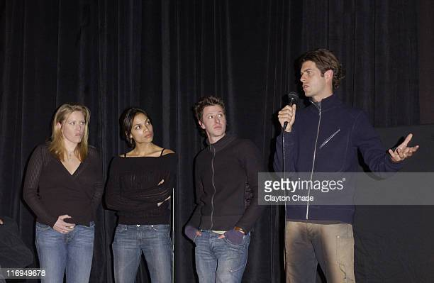 Amy Redford Rosario Dawson Nathan Crooker and Stephen Marshall director of This Revolution