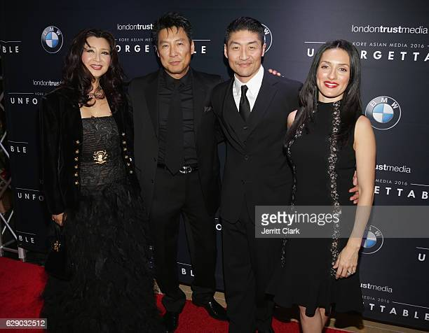 Amy Rhee Phillip Rhee Brian Tee and Mirelly Taylor attend the 15th Annual Unforgettable Gala at The Beverly Hilton Hotel on December 10 2016 in...