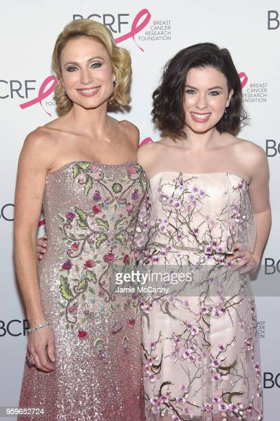 Amy Robach and Ava Mcintosh attend the Breast Cancer Research Foundation Hot Pink Gala hosted by Elizabeth Hurley at Park Avenue Armory on May 17...