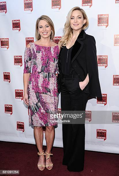 Amy Robach and Kate Hudson attend the 2016 Forbes Women's Summit on May 12 2016 in New York New York