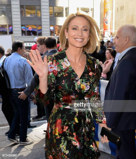 Amy Robach is seen leaving Good Morning America on June 12 2018 in New York City