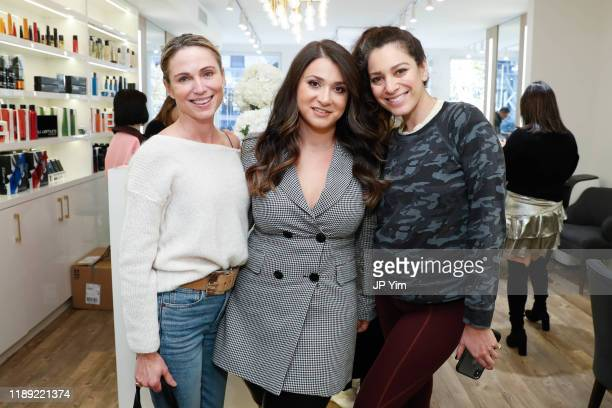 Amy Robach Roman K Salon owner Rachel Shimanova and Jamie Salazar attend the Roman K Salon Madison Avenue Opening on November 21 2019 in New York City