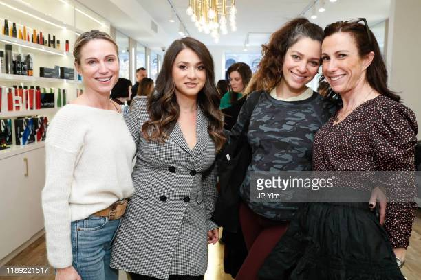 Amy Robach Roman K Salon owner Rachel Shimanova Jamie Salazar and Jessica Stark attend the Roman K Salon Madison Avenue Opening on November 21 2019...