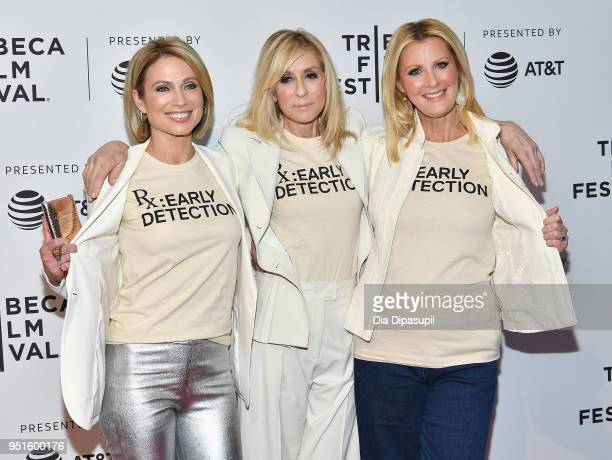 Amy Robach Sandra Lee and Judith Light attend a screening of RX Early Detection A Cancer Journey With Sandra Lee during the 2018 Tribeca Film Festiva...