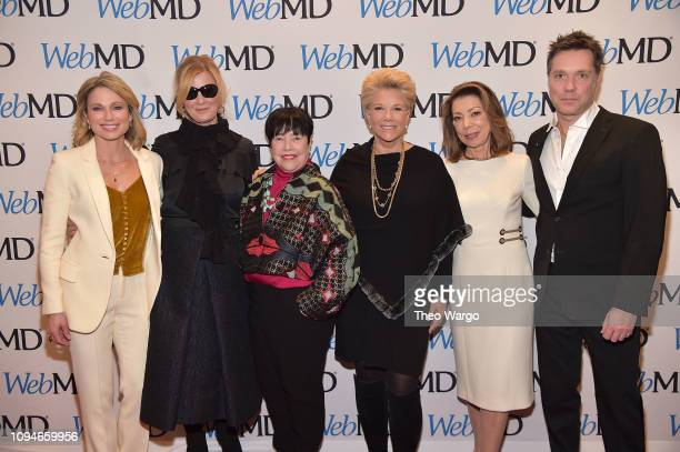 Amy Robach Sandra Lee Kathy Bates Joan Lunden Margaret I Cuomo and Rufus Wainwright attend the 2019 WebMD Health Hero Awards on January 15 2019 in...