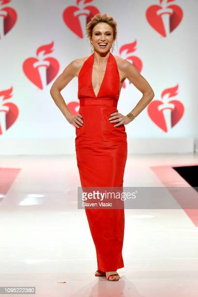 Amy Robach walks the runway for The American Heart Association's Go Red For Women Red Dress Collection 2019 Presented By Macy's at Hammerstein...