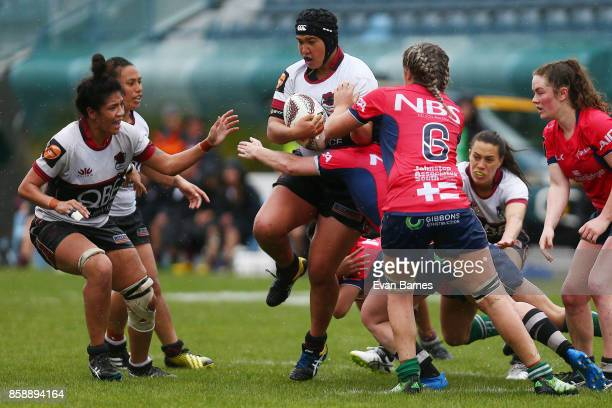 Amy Robertson of North Harbour during the round six Farah Palmer Cup match between Tasman and North Harbour at Trafalgar Park on October 8 2017 in...