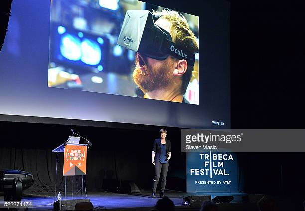 Amy Robinson attends Games For Change Games Media Summit 2016 Tribeca Film Festival at Spring Studios on April 18 2016 in New York City