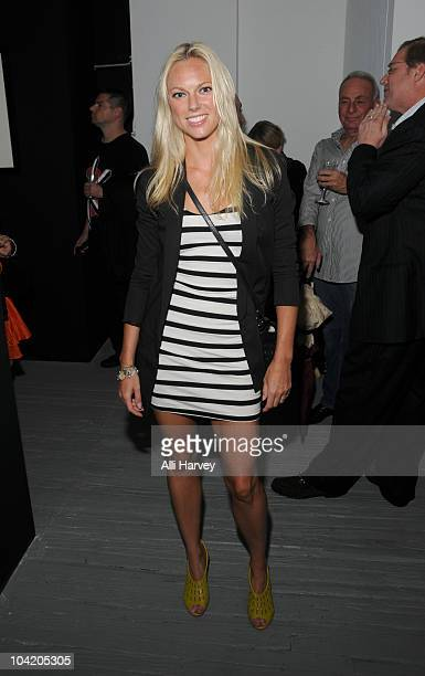 Amy Roca attends Julian Lennon's Timeless photography exhibition opening party at the Morrison Hotel Gallery on September 16 2010 in New York City