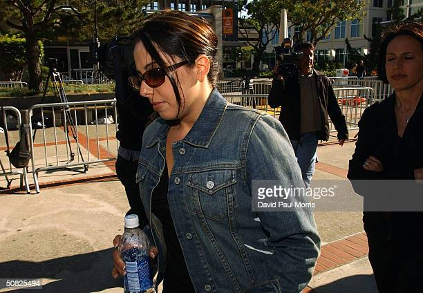 Amy Rocha the sister of Laci Peterson arrives at the San Mateo County Courthouse for a change of venue motion being made by the Scott Peterson...