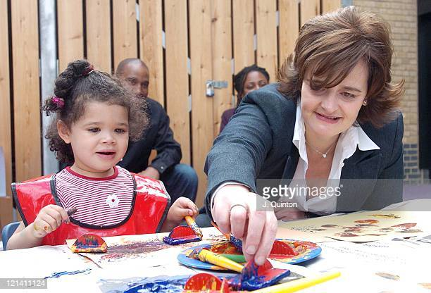 Amy Rogers and Cherie Booth during Cherie Booth QC Visits London's First Childcare Institute at The East London Childcare Institute in London Great...