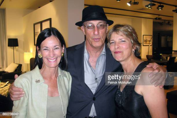 Amy Rosi Peter Rosenthal and Susan Ashbrook attend THE BRUNGERS 2009 Preview of Fall and Resort Knitwear at BoConcept Chelsea on July 16 2009 in New...