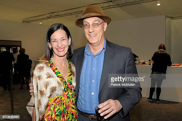 Amy Rossi and Peter Rosenthal attend The ARMORY SHOW 2008 Preview at Pier 94 on March 26 2008 in New York City
