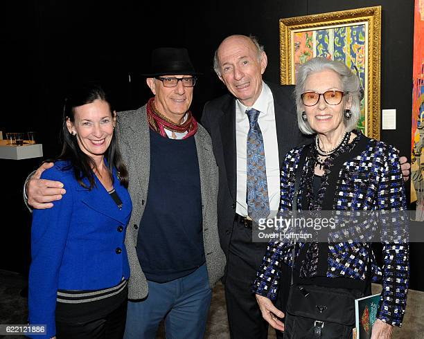 Amy Rossi Peter Rosenthal Donald Tober and Barbara Tober attend 2016 NYAAJS Opening Night at Pier 94 on November 9 2016 in New York City