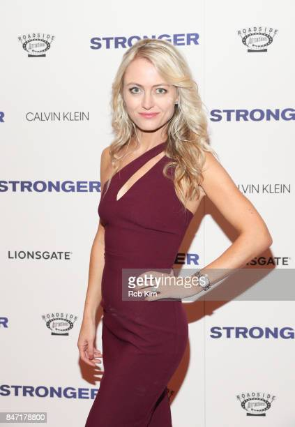 Amy Rutberg attends the premiere of 'Stronger' at Walter Reade Theater on September 14 2017 in New York City
