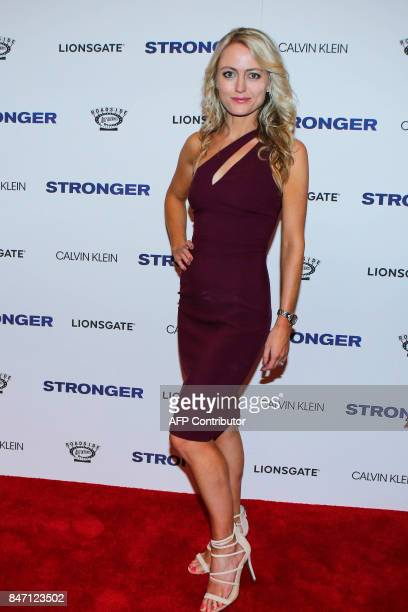 Amy Rutberg attends the 'Stronger' New York Premiere at Walter Reade Theater on September 14 2017 in New York City / AFP PHOTO / KENA BETANCUR
