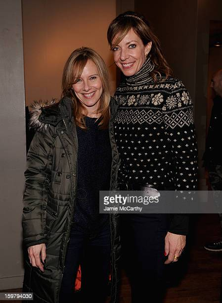 Amy Ryan and Allison Janney at the Grey Goose Blue Door on January 20 2013 in Park City Utah