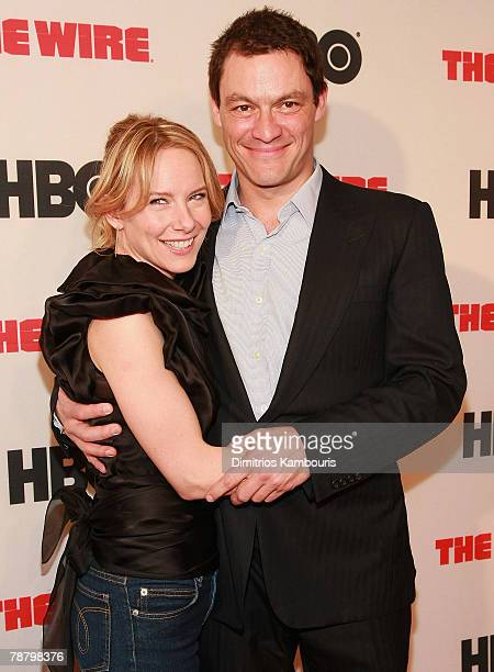 """Amy Ryan and Dominic West arrive at the """"The Wire"""" Season 5 Premiere at the Chelsea West Theater on January 4, 2008 in New York City."""
