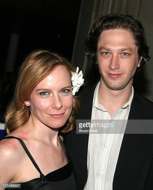 """Amy Ryan and Ebon Moss-Bachrach during """"A Streetcar Named Desire"""" on Broadway - Curtain Call and After Party at Roundabout Theater at Studio 54 in..."""