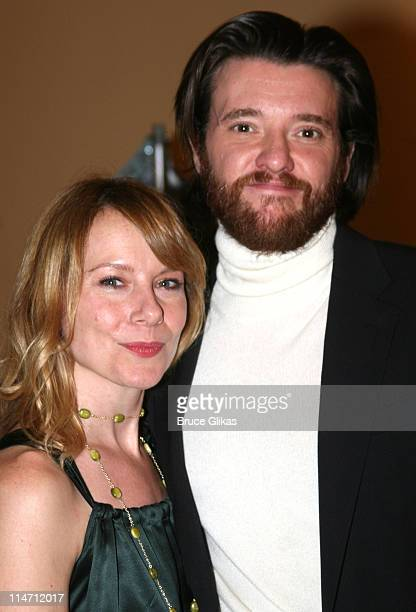 Amy Ryan and Jason Butler Harner during Shipwreck The Coast of Utopia Part 2 Opening Night Party at Avery Fisher Hall in New York City New York...