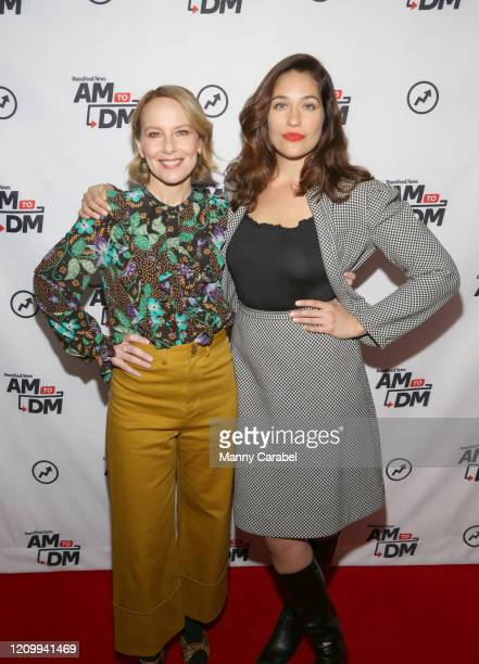 "Amy Ryan and Lola Kirke attend BuzzFeed's ""AM To DM"" on March 02, 2020 in New York City."