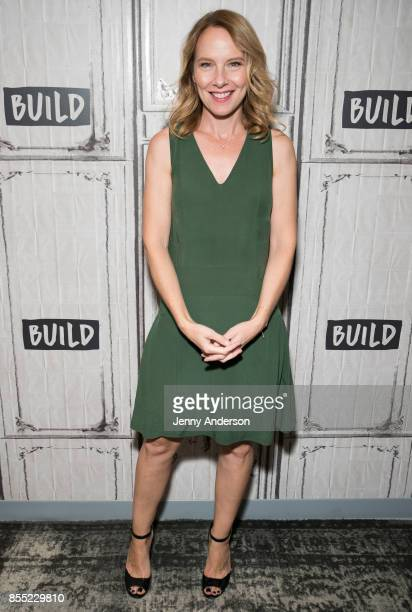 Amy Ryan attends AOL Build Series to discuss her new film 'Abundant Acreage Available' at Build Studio on September 28 2017 in New York City