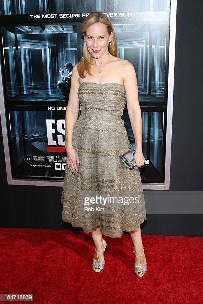 Amy Ryan attends Escape Plan New York Premiere at Regal EWalk on October 15 2013 in New York City
