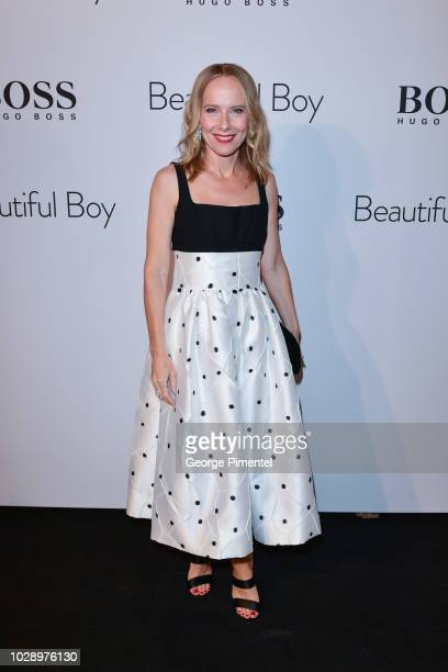 Amy Ryan attends the 'Beautiful Boy' afterparty hosted by Amazon Studios Hugo Boss during 2018 Toronto International Film Festival at Soho House on...