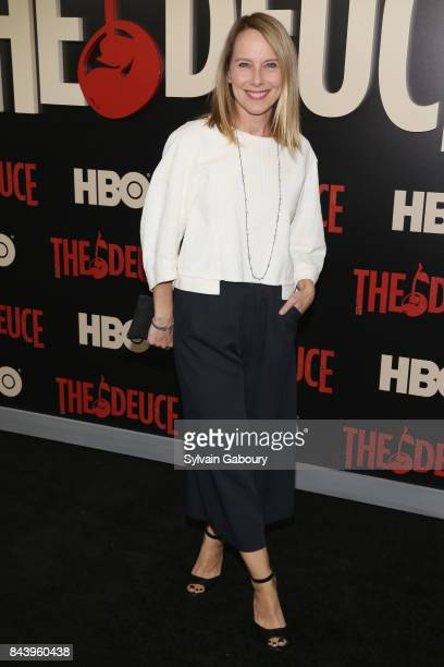 Amy Ryan attends The Deuce New York Premiere Arrivals at SVA Theater on September 7 2017 in New York City