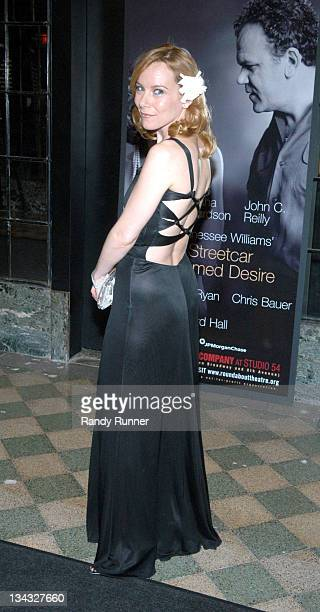 Amy Ryan during 'A Street Car Named Desire' After Party at Studio 54 in New York New York United States