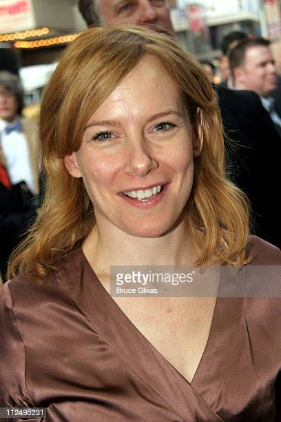 Amy Ryan during Opening Night of Martin McDonagh's The Pillowman on Broadway Arrivals at The Booth Theater in New York City NY United States