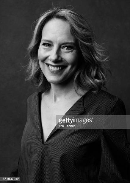 Amy Ryan from 'Abundant Acreage Available' poses at the 2017 Tribeca Film Festival portrait studio on April 21 2017 in New York City