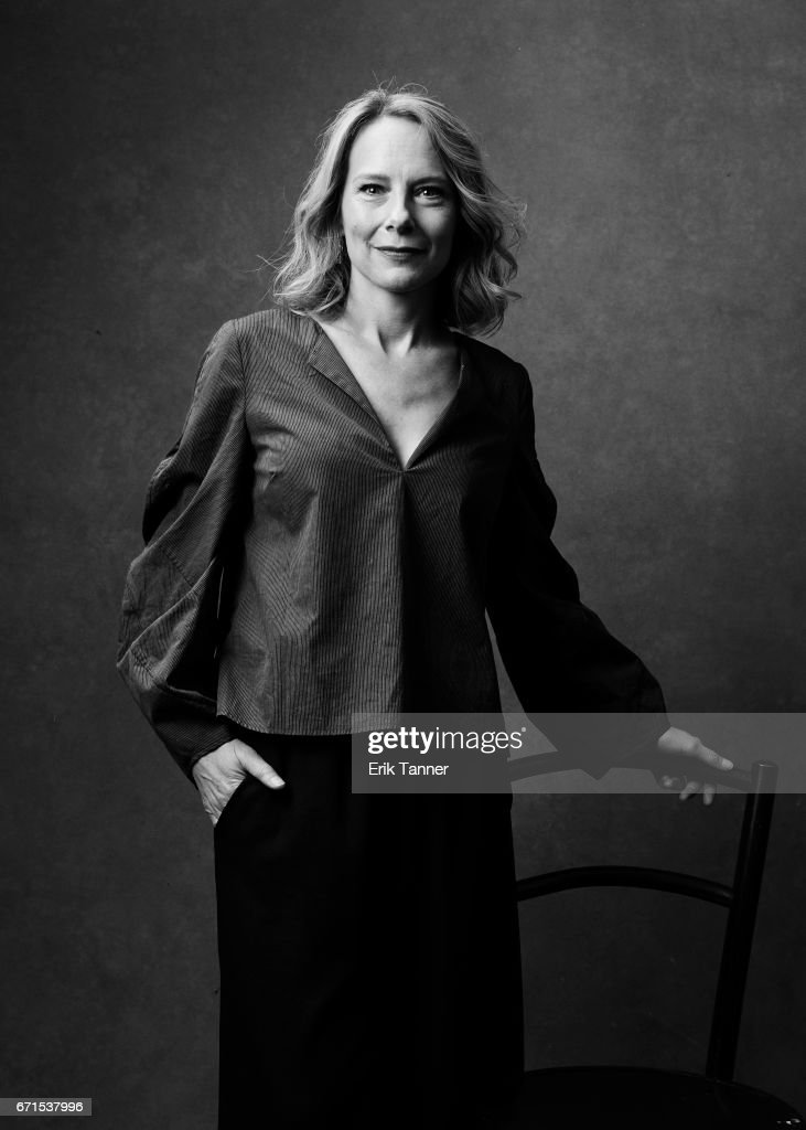 Amy Ryan from 'Abundant Acreage Available' poses at the 2017 Tribeca Film Festival portrait studio on April 21, 2017 in New York City.